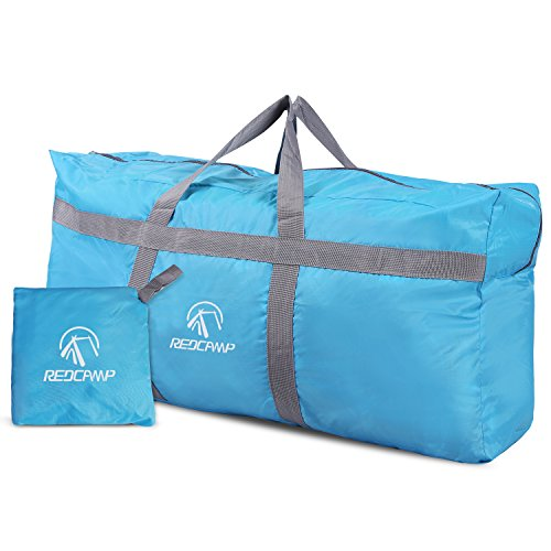 REDCAMP 96L Extra Large Duffle Bag Lightweight, Water Repellency Travel Duffle Bag Foldable for Men Women, Blue