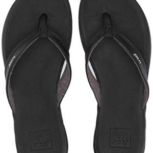 Reef Women's Rover Catch Flip Flop, Black, 7