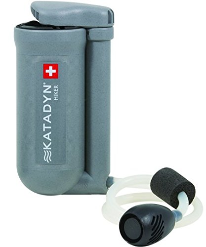 Katadyn Hiker Water Filter, Lightweight, Compact Design for Personal or Small Group Camping, Backpacking or Emergency Preparedness