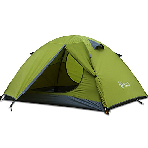 Two Person Camping Tent Outdoor Backpacking Lightweight Waterproof Family Tents pop up Instant Portable Compact shelter Easy Set up (Green-2 Person)