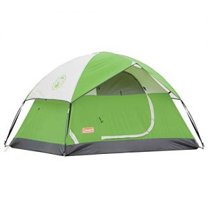 Coleman Camping Tent | 4 Person Sundome Dome Tent, Green