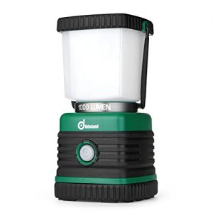 Odoland 1000 Lumen Camping Lantern, Battery Powered LED Lantern of 4 Light Modes, Waterproof Tent Flashlight, Perfect for Camping, Hiking, Hurricane, Emergency, Survival Kits