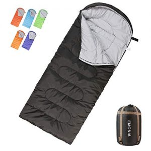 EMONIA Camping Sleeping Bag, 3-4 Season Waterproof Outdoor Hiking Backpacking Sleeping Bag Perfect for Traveling, Lightweight Portable Envelope Sleeping Bags for Adults, Kids, Girls and Boys