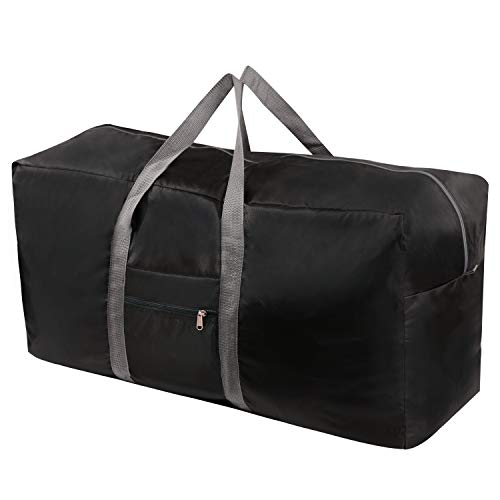 REDCAMP 100L Extra Large Duffle Bag, Water Repellency Lightweight Foldable Duffel Bag for Outdoor Camping, Black