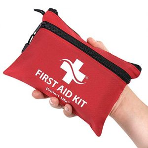 First Aid Kit - 100 Piece - Small First Aid Kit for Camping, Hiking, Backpacking, Travel, Vehicle, Outdoors - Emergency & Medical Supplies