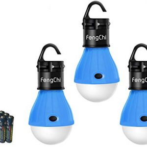 FengChi LED Camping Lantern, [3 Pack] Portable Outdoor Tent Light Emergency Bulb Light for Camping, Hiking, Fishing,Hurricane, Storm, Outage.