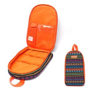 NatSumeBasics Travel Camping Cooking Utensils Organizer Bag Orange Portable Storage Pouch for BBQ Camp Cookware Kitchen Accessories Kit Bag (Only 1pc Orange Bag)