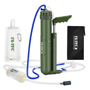FS-TFC Portable Water Filter 0.0001 Micron Super-high Precision Water Purification Survival Gear for Hiking, Camping, Travel, and Emergency Preparedness