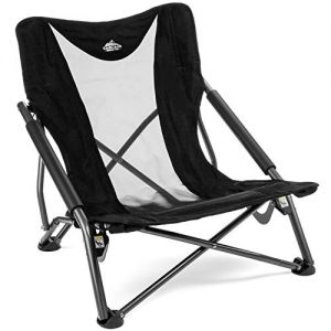Cascade Mountain Tech Compact Low Profile Camp Chair – Portable Outdoor Folding Camp Chair with Carry Case with Carry Case