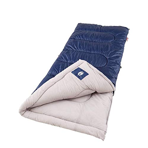 Coleman Sleeping Bag | Cold-Weather 20°F Brazos Sleeping Bag, Navy