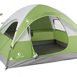 ALPHA CAMP 3 Person Camping Tent - 7' x 8' Green
