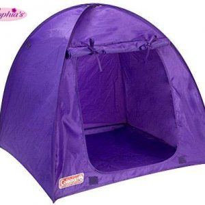 Sophia's Purple Coleman Doll Tent, Perfect for The 18 Inch Camping American Girl Dolls and More! 18 Inch Coleman Collapsible Doll Tent in Purple