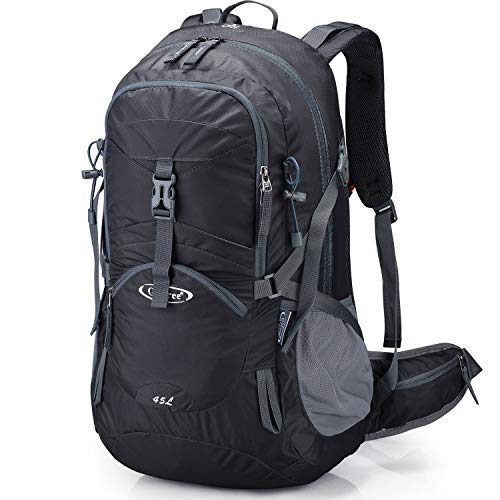 G4Free 45L Hiking Travel Backpack Men Women Camping Daypack Outdoor with Rain Cover