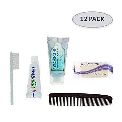 12 Kits - Bulk Case of Wholesale Basic Hygiene & Toiletry Kits for Men, Women, Travel, Charity