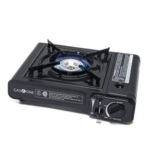 Gas ONE GS-1000 7,650 BTU Portable Butane Gas Stove Automatic Ignition with Carrying Case, CSA Listed (Stove)