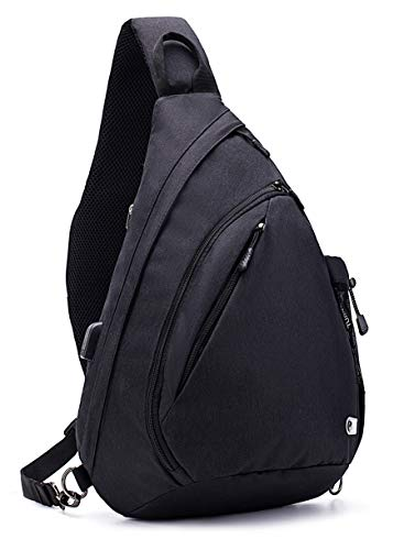 TurnWay Water-Proof Sling Backpack/Crossbody Bag/Shoulder Bag for Travel, Hiking, Cycling, Camping for Women & Men (Black)