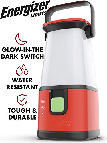 Energizer LED Camping Lantern Flashlight, 650 Hour Run-Time, 500 Lumens, IPX4 Water Resistant, Battery Powered LED Lantern - Use for Hurricane, Emergency Light, Camping