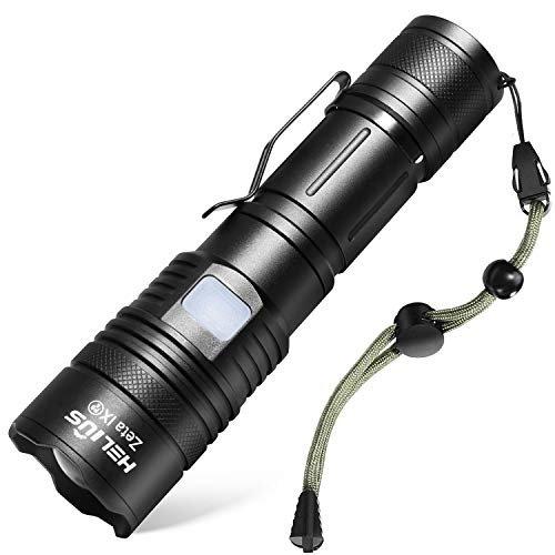 Rechargeable Usb Led Flashlights 2500 High Lumens,Zoomable 5Modes tactical Flash Light,Cree XHP50 Bright Handheld Lights,Powerful Torch,Waterproof,Power Display,18650 Battery,Camping Outdoor Emergency