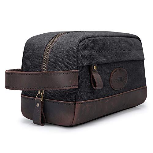 S-ZONE Mens Travel Case Small Dopp Kit Shaving Toiletry Bag Organizer Insert