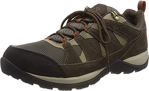Columbia Men's Redmond V2 Waterproof Hiking Shoe, mud, Dark Adobe, 9.5 Regular US
