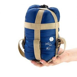 """ECOOPRO Warm Weather Sleeping Bag - Portable, Waterproof, Compact Lightweight, Comfort with Compression Sack - Great for Outdoor Camping, Backpacking & Hiking-83 L x 30"""" W Fits Adults (dark blue)"""