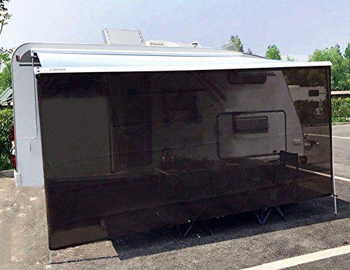Tentproinc RV Awning Sun Shade 7' X 15'3'' Brown Screen Sunshade Complete Kits Motorhome Camping Trailer Canopy UV Sunblock Shelter - 3 Years Limited Warranty