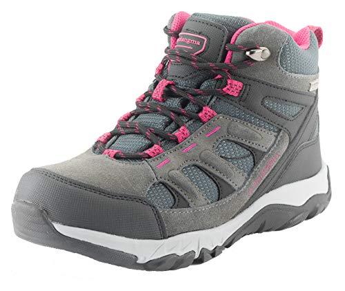 Qomolangma Women's Waterproof Hiking Shoes Lightweight Non-Slip Breathable Running Camping Outdoor Trekking Sneakers Red