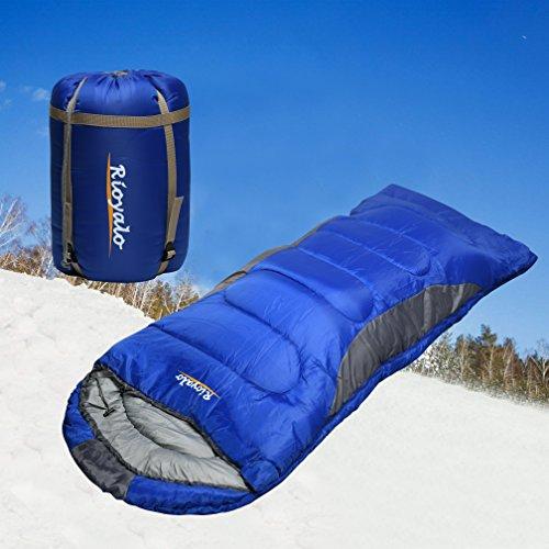 0 Degree Winter Sleeping Bags for adults camping (350GSM) -Temp Range (5F – 32F) Portable Waterproof Compression Sack- Camping Sleeping Bags for Big and Tall in Env Hoodie: Hiking backpacking 4 Season