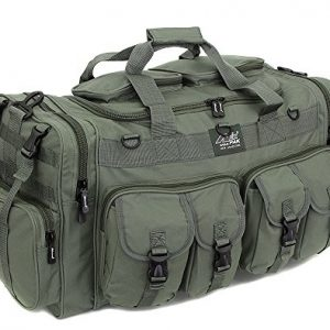 "Mens Large 30"" Inch Duffel Military Molle Tactical Cargo Gear Shoulder Bag OD Green"