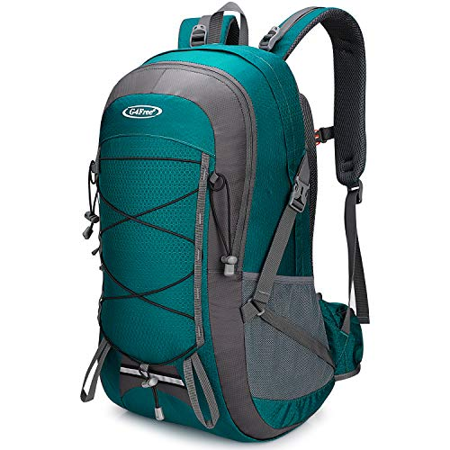 G4Free 45L Hiking Backpack Waterproof Travel Camping Outdoor Daypack with Water Blader Compartment for Men Women