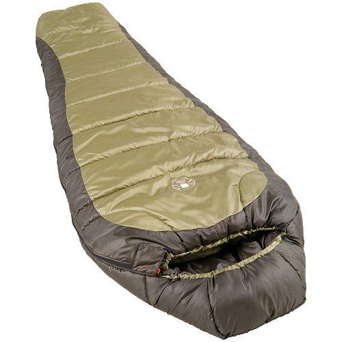 Coleman 0°F Mummy Sleeping Bag for Big and Tall Adults | North Rim Cold-Weather Sleeping Bag, Olive