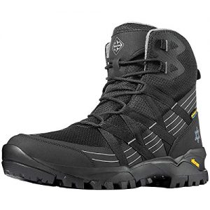 Wantdo Men's All Season Hiking Boots, High Waterproof Hiking Shoes for Outdoor Camping Black 10 M US