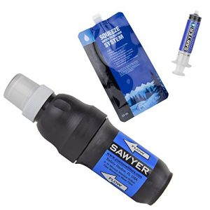 Sawyer Products SP129 Squeeze Water Filtration System w/ Two Pouches,Black/Blue