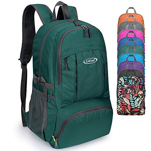 G4Free 40L Lightweight Packable Waterproof Hiking Backpack with Wet Pocket, Handy Foldable Camping Outdoor Backpack (Army Green)
