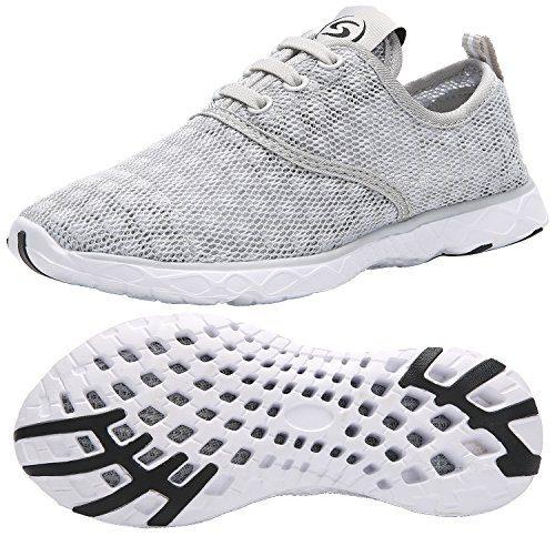 KARIDO Kid's Slip-on Quick Drying Aqua Water Shoes Athletic Sneakers N-Grey 30