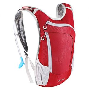 KUYOU Hydration Pack, Hydration Backpack with 2L Hydration Bladder Lightweight Insulation Water Pack for Running Hiking Riding Camping Cycling Climbing Fits Men and Women (Red)