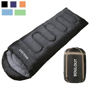 Envelope Sleeping Bag - 4 Seasons Warm Cold Weather Lightweight, Portable, Waterproof with Compression Sack for Adults and Kids - Indoor and Outdoor Activities: Traveling, Camping, Backpacking, Hiking