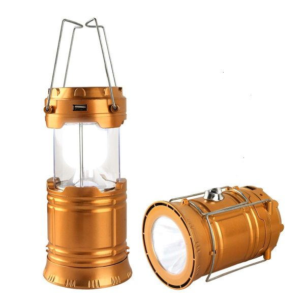 LED Camping Lantern, Solar and Rechargeable Lantern Flashlight Collapsible and Portable Light for Daily/Camp/Hiking/Night Fishing/Emergency/Hurricanes/Storm(1 Pack)