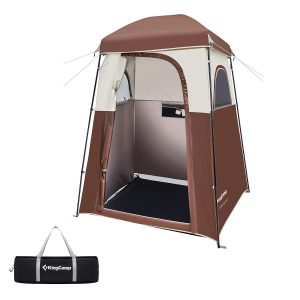 KingCamp Oversize Outdoor Camping Dressing Changing Room Shower Privacy Shelter Tent (Coffee-Advanced)