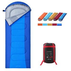 SEMOO Camping Sleeping Bag, Lightweight 3 Season Weather Sleep Bags for Adults Kids, Portable Envelope Sleeping Bags Perfect for Camping Hiking Mountaineering