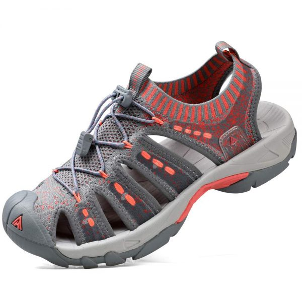 Women's Outdoor Sport Sandals Knitted for Hiking/Cycling/Camping Water Shoes Girls red Size 7