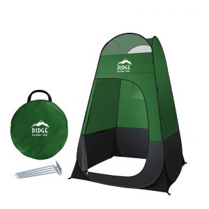 6.5ft Pop Up Changing Shower Privacy Tent – Portable Utility Shelter Room for Camping Shower Toilet Bathroom Trade Shows Beach Spray tan popup (Green)