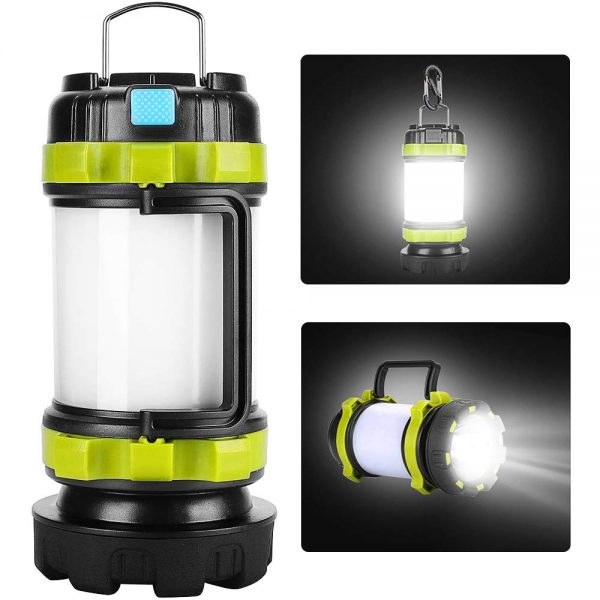 yotutun Rechargeable Camping Lantern,Camping Lights with 800LM,6Light Modes,3800mAh Power Bank, IPX4 Waterproof,Perfect for Camping Light Hurricane,Emergency,Hiking,Outdoor(1 Pack)