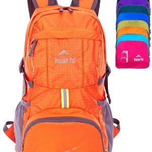 Venture Pal Lightweight Packable Durable Travel Hiking Backpack Daypack (Orange)