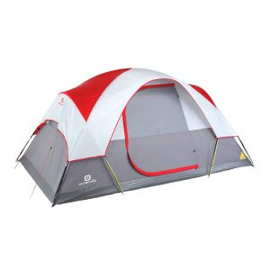 Outbound 6-Person Dome Tent for Camping with Carry Bag and Rainfly | Perfect for Backpacking and The Beach | Red