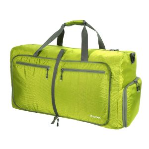 Homdox Large Duffle Bag for Camping Waterproof Lightweight Folding Luggage Bag,Gym Bag for Men Women(Light Green)