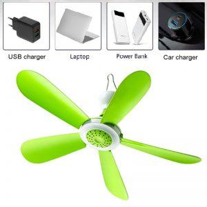 Remote Control USB Ceiling Fan Air Cooler