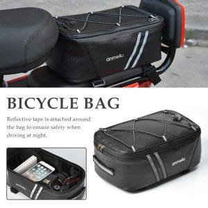 Bike Saddle Bag Trunk Bag With Sturdy Rainproof Cowl
