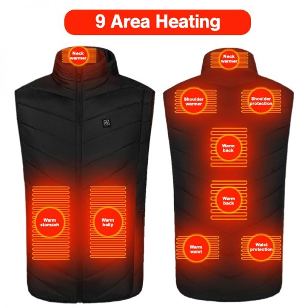 Camping Heated Vest Usb Rechargeable