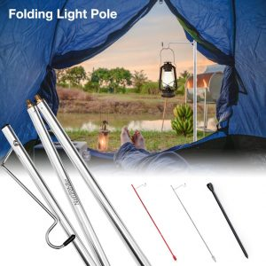 Camping Lightweight Table Folding Lamp Pole Portable